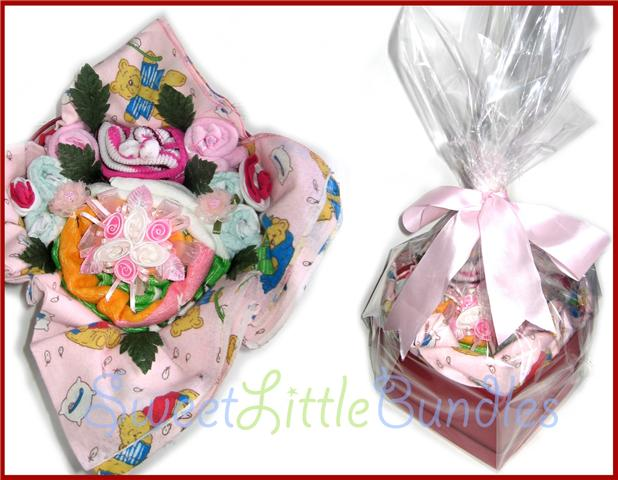 Baby Gift Hamper Melbourne : Sweet little bundles nappy cakes towel baby gifts